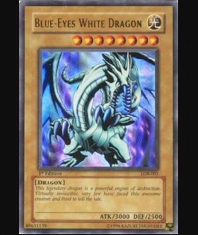 1st Edition Blue Eyes White Dragon Card