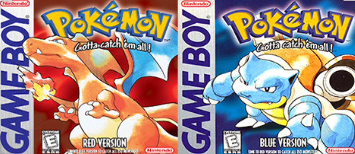 Nintendo Gameboy Pokemon Red & Blue Versions