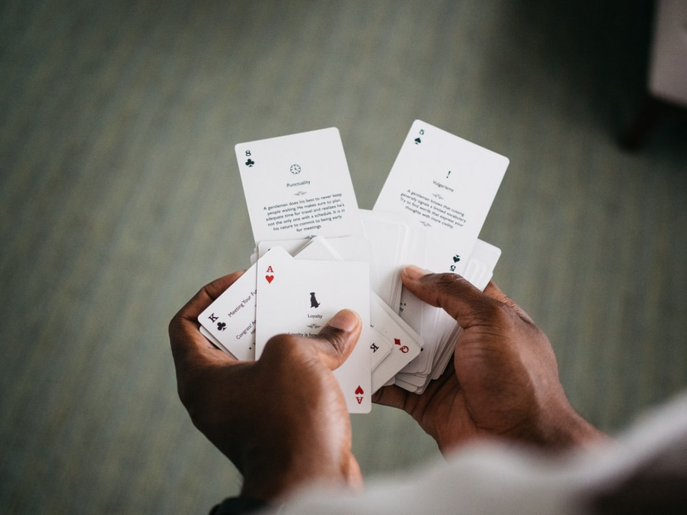 Deck of Cards in a Pair of Hands
