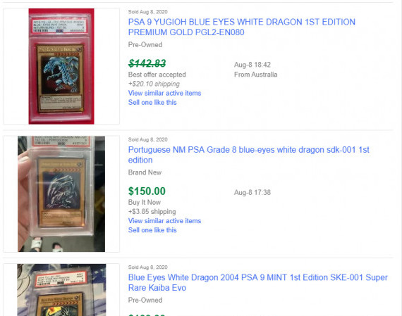 eBay s's sold listings.