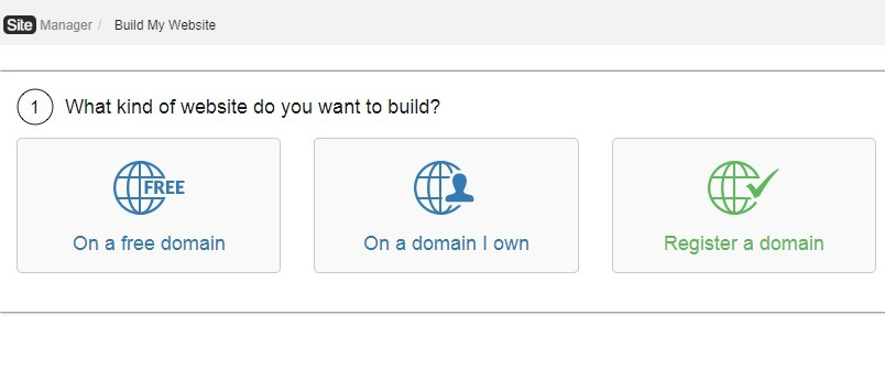 what kind of website do you want to build - on a free domain