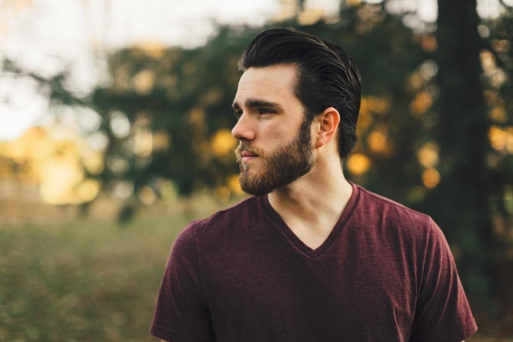 dark hair, beard and mustache