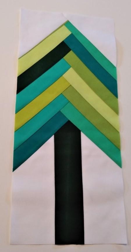 Tree Line Quilt Block