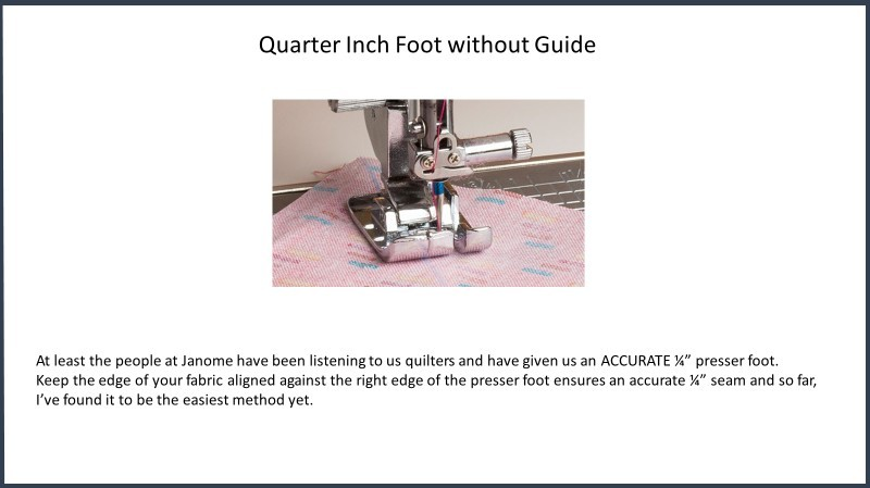 Janome Quarter Inch Foot