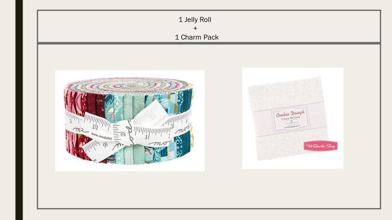 Nova Fabric Jelly Roll and Cookie Dough Mini Gem Charm Pack