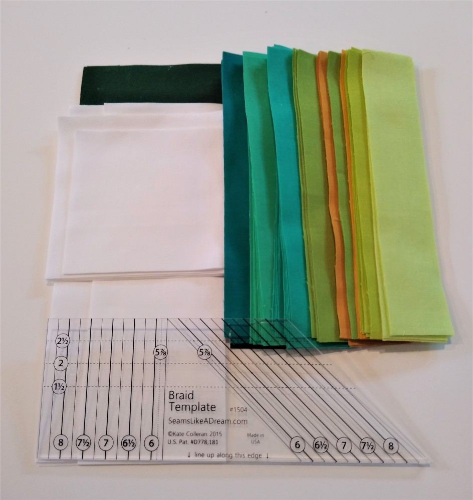 Fabric Strips with Braid Template