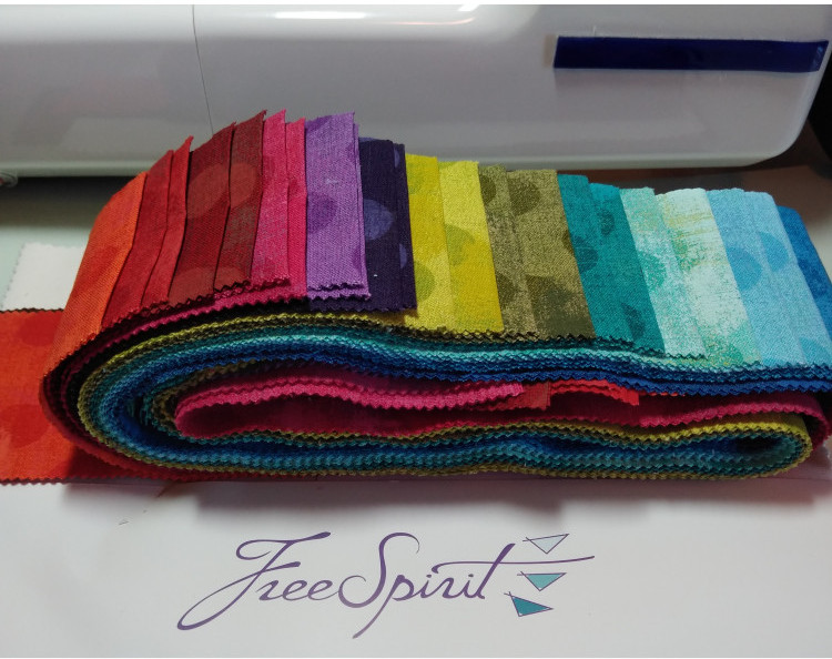 Free Spirit Off White 10' Square Layer Cake and Grunge Jelly Roll by BasicGrey Quilting Fabric