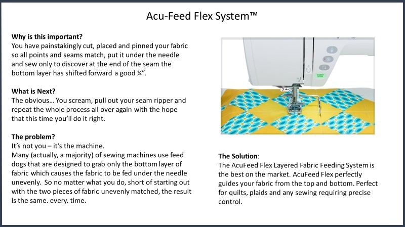 Janome Acu-Feed Flex System