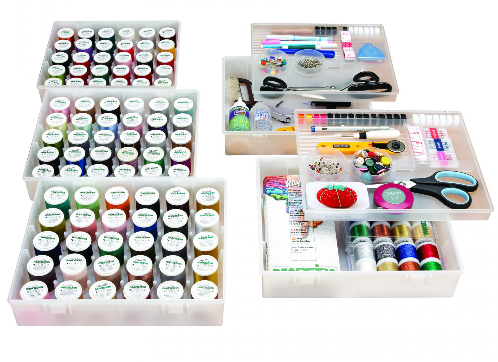 Thread and notions storage boxes
