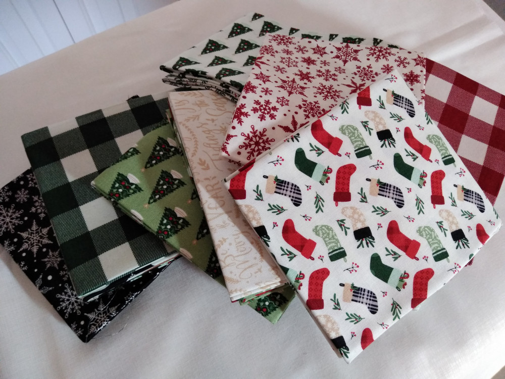 Fat quarter sampling from Dani Mogstad's Christmas Traditions fabric line