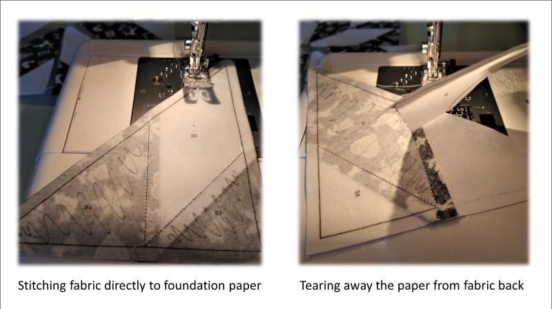 Paper Piecing a Star Block