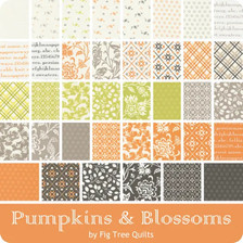 Pumpkins & Blossoms fabric line by Fig Tree Quilts