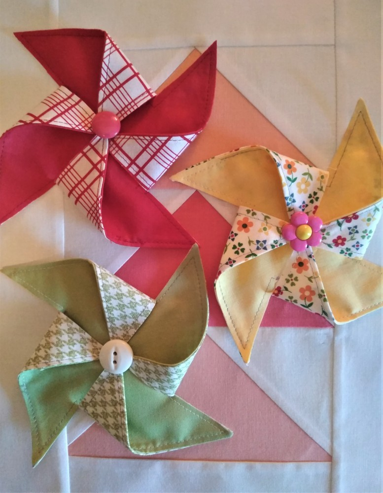 Pinwheels in Summer Fabric