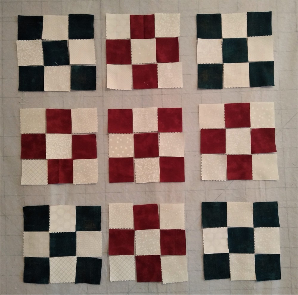 Quilt Top Using Nova Jelly Roll and Cookie Dough 5' Charm Pack