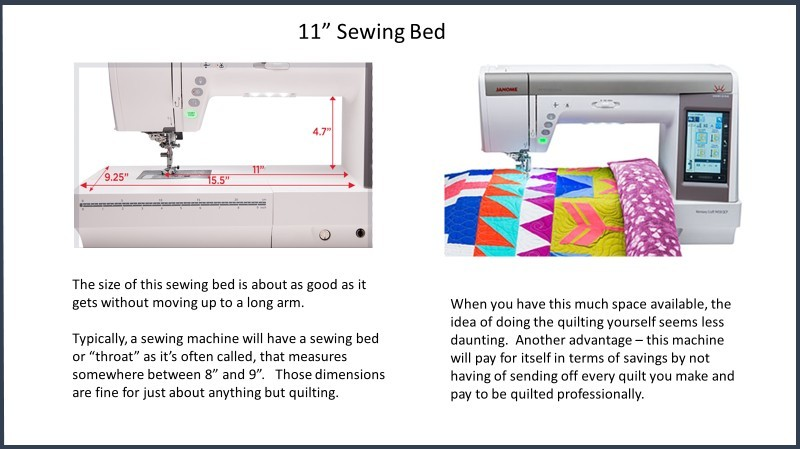 Janome 11' Sewing Bed