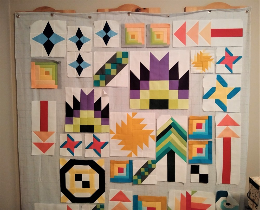 Wall Mounted Design Wall for Quilting