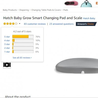 Hatch Baby Grow Smart Changing Pad and Scale