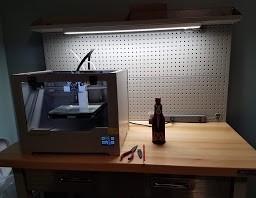 Image of Bibo printer on work bench in author's print lab