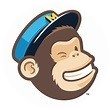 A animated chimps head with a cap on his head