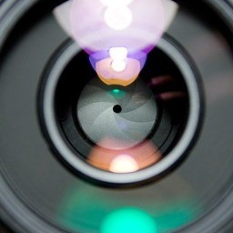 A lens from a camera