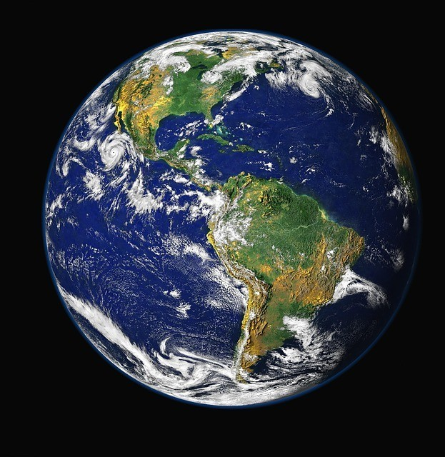 A picture of the world from space