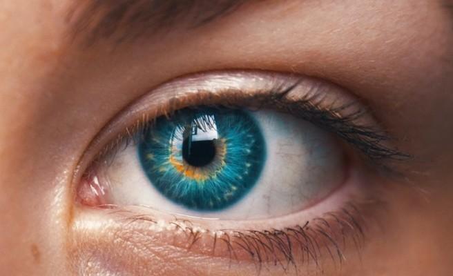 A image of an open blue eye