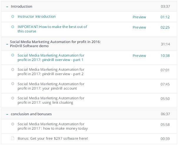 Social Media Marketing Automation - Curriculum For This Course