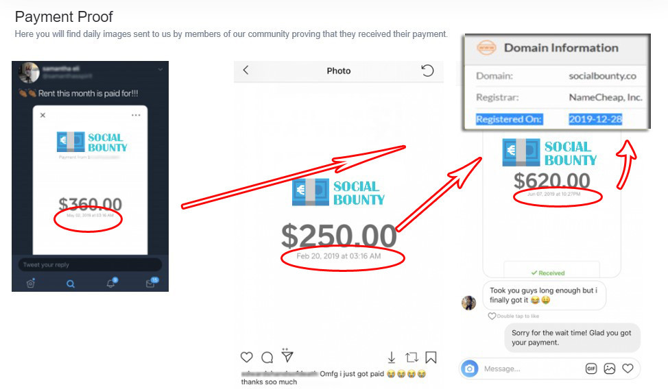 Social Bounty Payment Proof