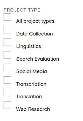 Appen project categories