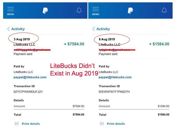 LiteBucks Payment Proof - Just Another Fake