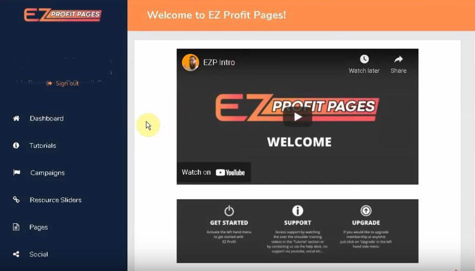 EZ Profit Pages Dashboard