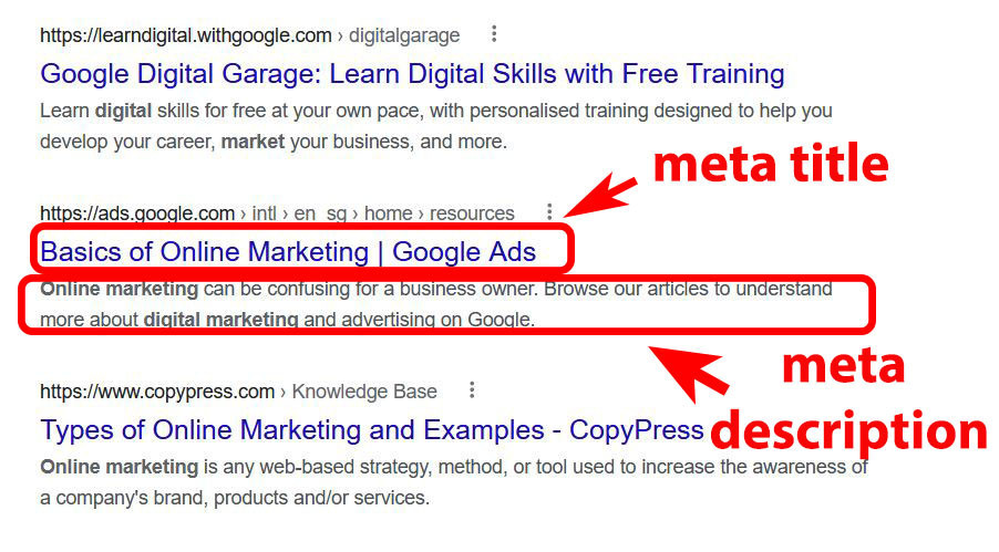 What is meta title and meta description