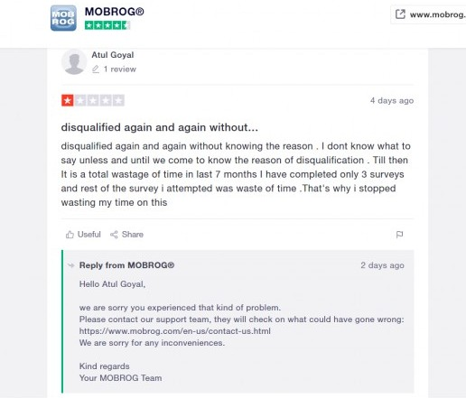 Mobrog negative review #1