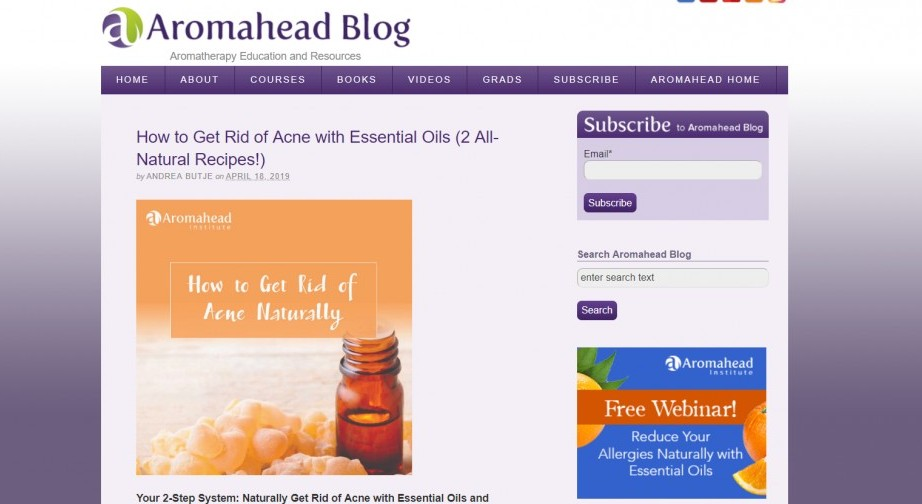 Aromahead - Aromatherapy Education and Resources