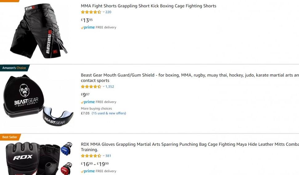 Amazon MMA products - MMA Affiliate Programs