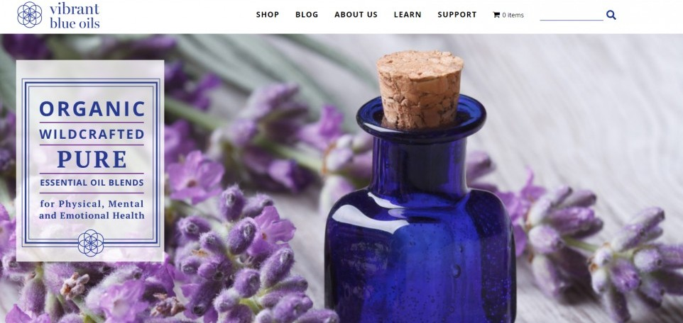 Vibrant Blue Oils - Essential Oil Blends