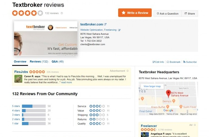 Textbroker reviews