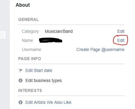 Edit FB name
