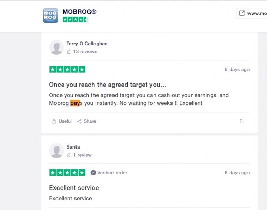 Does mobrog pay? Trustpilot proof