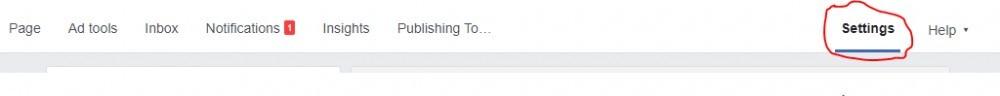 FB page settings option
