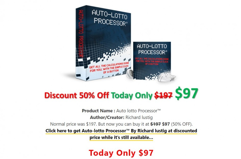 Auto lotto processor cost - Auto lotto processor review