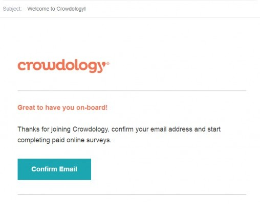 Crowdology confirm email