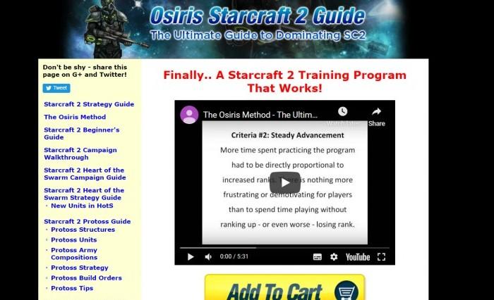 The Osiris method starcraft 2 affiliate program