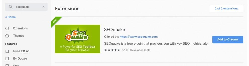 SEOquake install