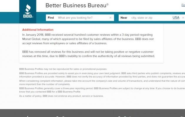 Monat's BBB rating