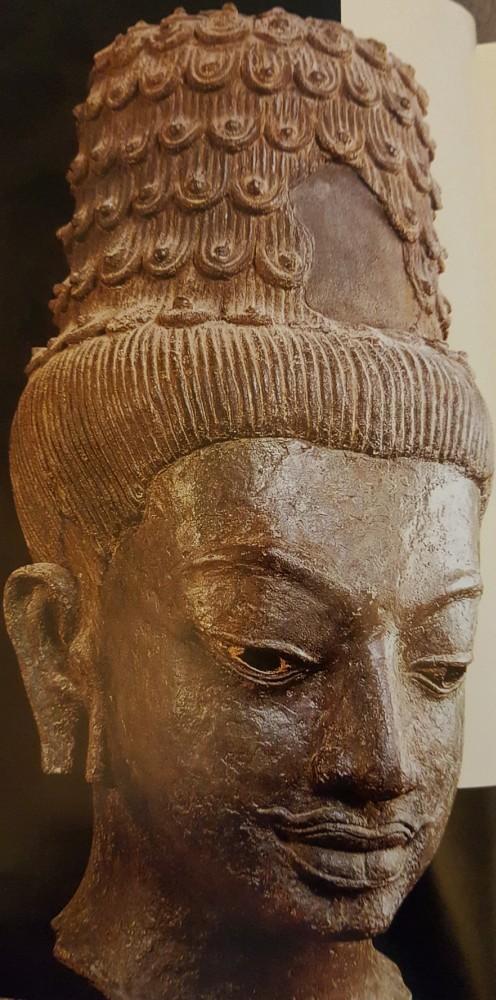 bronze head of the Bodhisattva Maitreya (8th Century)