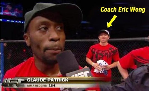 Eric Wong helped coach UFC fighter Claude Patrick