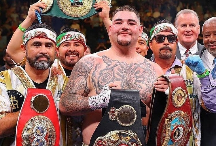 Andy Ruiz new world champion