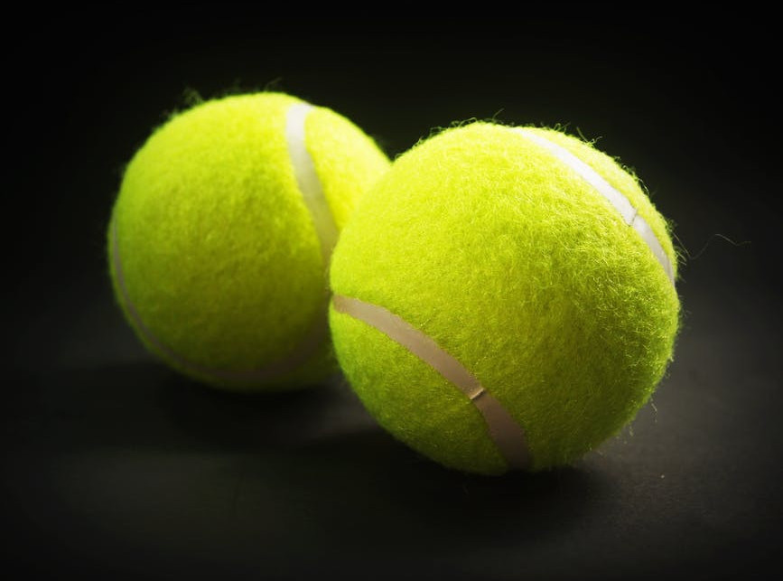 Tennis ball reflex exercises