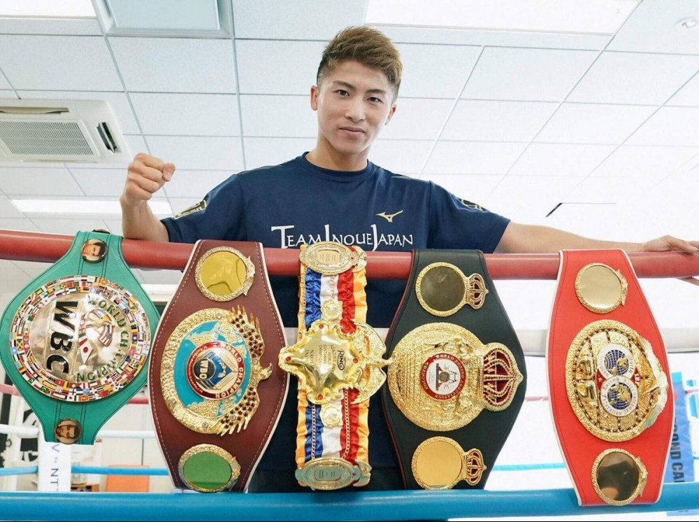 Inoue and his belts